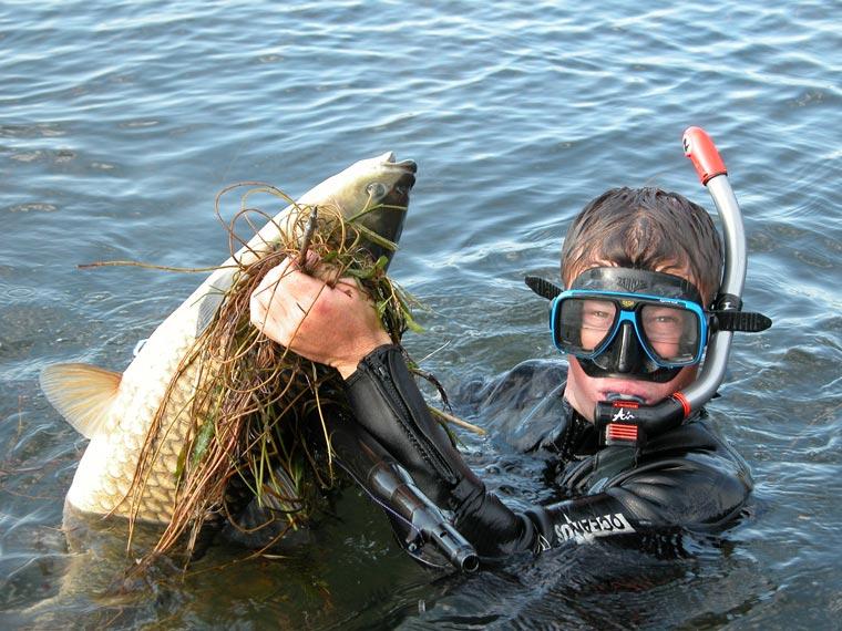 Маска для подводной охоты